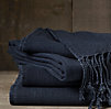 Washed Linen Indigo Throw
