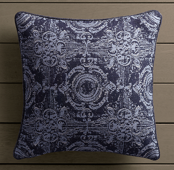 Perennials® Côte d&#39Azur French Multi-Tile Pillow Cover  Navy