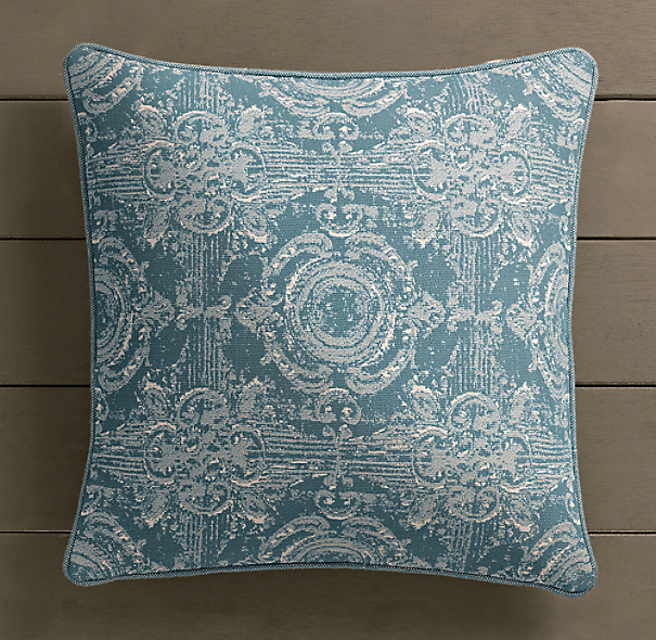 Perennials® Côte d&#39Azur French Multi-Tile Pillow Cover Peacock