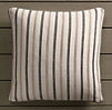 Perennials® Côte d&#39Azur Multi-Stripe Pillow Cover Graphite