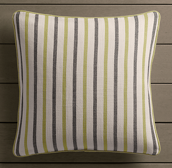 Perennials® Côte d&#39Azur Multi-Stripe Pillow Cover Vert