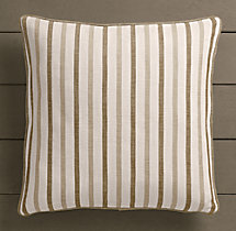 Perennials® Côte d&#39Azur Multi-Stripe Pillow Cover Mocha
