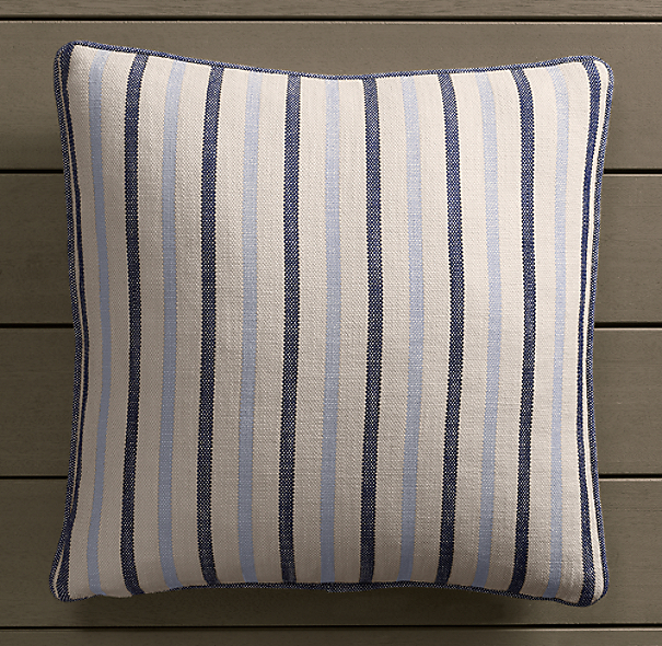 Perennials® Côte d&#39Azur Multi-Stripe Pillow Cover Navy