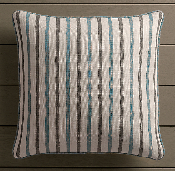 Perennials® Côte d&#39Azur Multi-Stripe Pillow Cover Peacock
