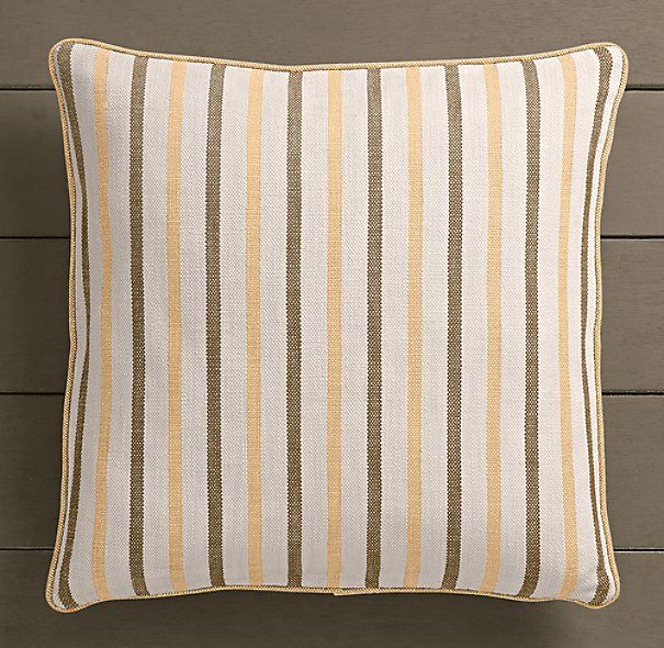 Perennials® Côte d&#39Azur Multi-Stripe Pillow Cover Soleil