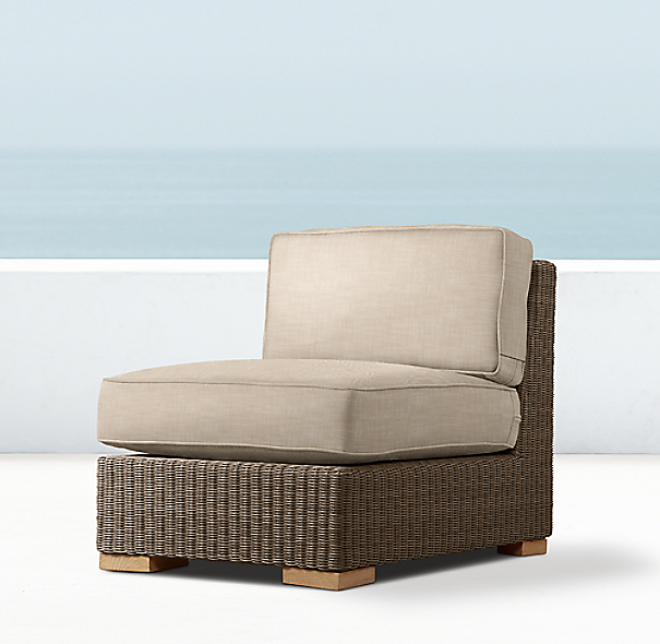 Biscayne Luxe Armless Chair
