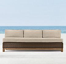 """75"""" Malibu Three-Seat Armless Sofa Cushion"""