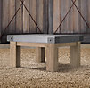 Concrete & Teak Side Table