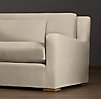 9' Belgian Slope Arm Upholstered Sofa