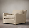 Belgian Slope Arm Upholstered Chair