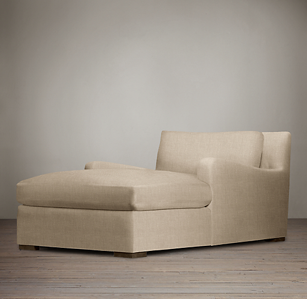 Belgian Slope Arm Upholstered Chaise