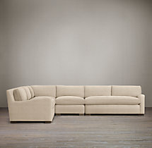 Belgian Slope Arm Upholstered L-Sectional