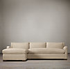 Belgian Slope Arm Upholstered Left-Arm Sofa Chaise Sectional