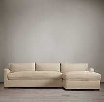 Belgian Slope Arm Upholstered Right-Arm Sofa Chaise Sectional
