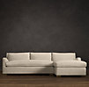 Belgian Slope Arm Upholstered Sofa Chaise Sectionals