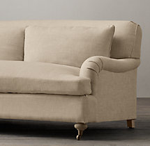 7' Belgian Classic Roll Arm Upholstered Sofa