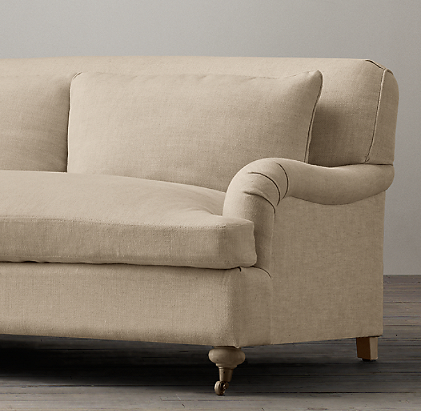 10' Belgian Classic Roll Arm Upholstered Sofa
