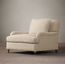 Belgian Classic Roll Arm Upholstered Chair