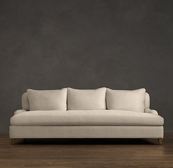 Belgian Classic Roll Arm Upholstered Daybed Sofa