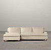 Belgian Classic Roll Arm Upholstered Left-Arm Sofa Chaise Sectional