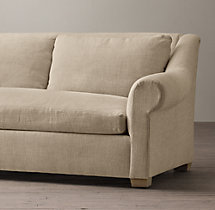 9' Belgian Roll Arm Upholstered Sofa