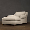 Belgian Roll Arm Upholstered Chaise