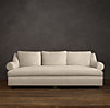 Belgian Roll Arm Upholstered Daybed Sofa