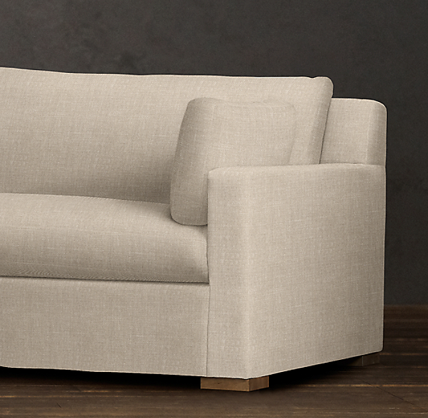 7' Belgian Track Arm Upholstered Sofa
