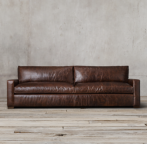 8' Belgian Track Arm Upholstered Sofa