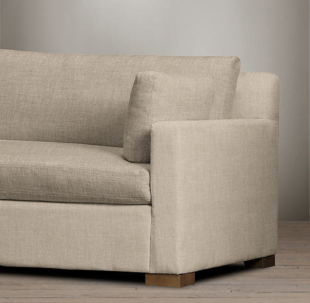 9' Belgian Track Arm Upholstered Sofa