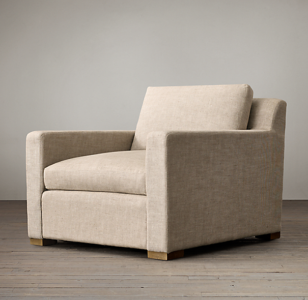Belgian Track Arm Upholstered Chair