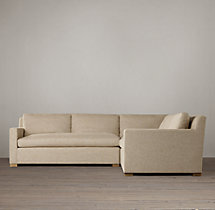 Belgian Track Arm Upholstered Corner Sectional