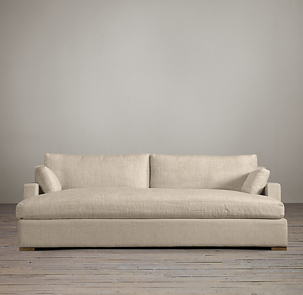 Belgian Track Arm Upholstered Daybed Sofa