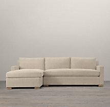 Belgian Track Arm Upholstered Left-Arm Sofa Chaise Sectional