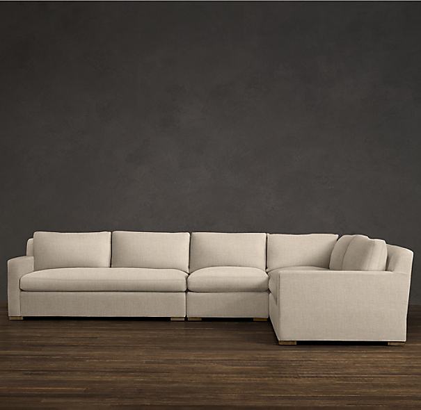 Belgian Track Arm Upholstered Right-Arm L-Sectional