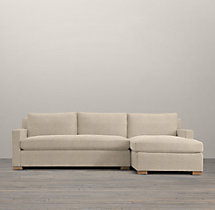 Belgian Track Arm Upholstered Right-Arm Sofa Chaise Sectional