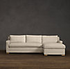 Belgian Track Arm Upholstered Sofa Chaise Sectionals