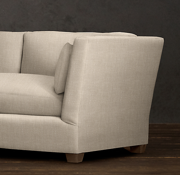 7' Belgian Shelter Arm Upholstered Sofa