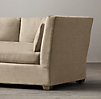 8' Belgian Shelter Arm Upholstered Sofa