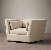 Belgian Shelter Arm Upholstered Chair