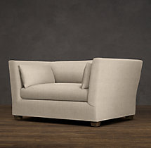 5' Belgian Shelter Arm Upholstered Sofa