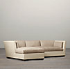 Belgian Shelter Arm Upholstered Left-Arm Sofa Chaise Sectional