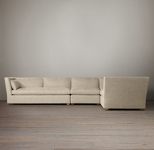 Belgian Shelter Arm Upholstered L-Sectional