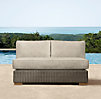 "50"" Biscayne Armless Sofa Cushion"