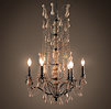 Baroque Wood Crystal Chandelier Large