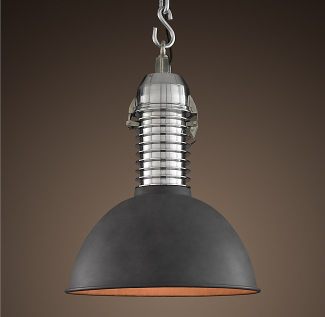 1950s shop floor pendant