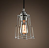 Cage Filament Pendant Polished Nickel