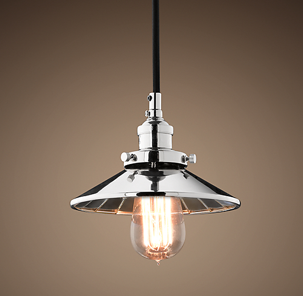 Reflector Filament 7½ Pendant Polished Nickel