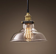 Glass Barn Filament Pendant