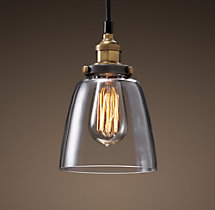Clear Glass Cloche Filament Pendant